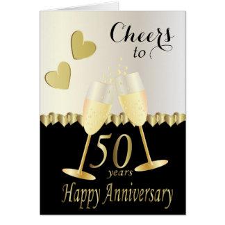 Alegrías a 50 años de tarjeta del aniversario