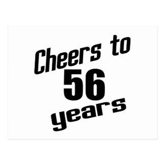 Alegrías a 56 años postal