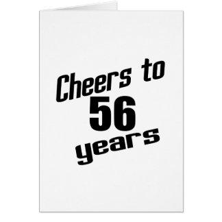 Alegrías a 56 años tarjeta de felicitación