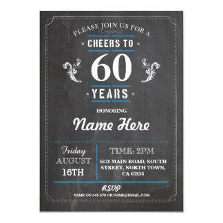 Alegrías a 60 años del cumpleaños 50.o de la invitación 12,7 x 17,8 cm