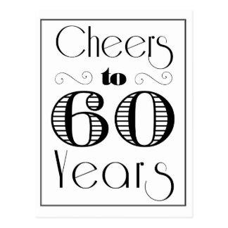 Alegrías a 60 años postal