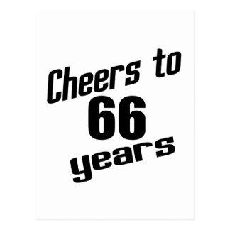 Alegrías a 66 años postal