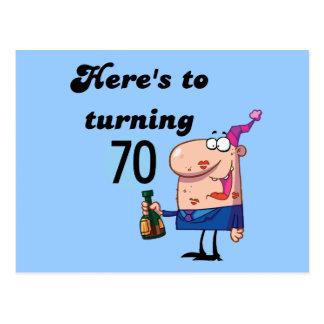 Alegrías a 70 camisetas y regalos del cumpleaños tarjetas postales