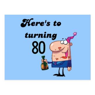 Alegrías a 80 camisetas y regalos del cumpleaños postal