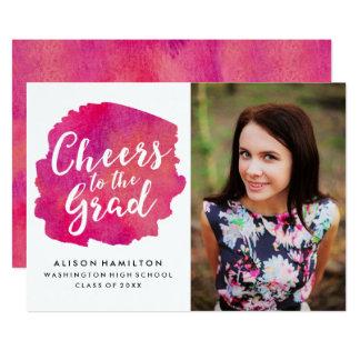 Alegrías a la invitación del graduado en rosa