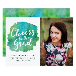Alegrías a la invitación del graduado en verde