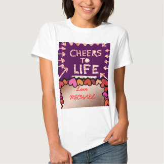 ALEGRÍAS a la vida: Caja de texto/saludo Editable Camiseta