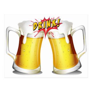 Alegrías de las cervezas postal