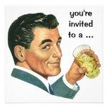 Alegrías de los cócteles de la fiesta de cumpleaño invitaciones personales