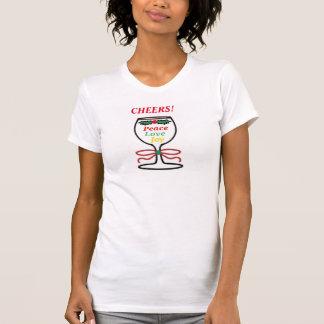 Alegrías del navidad, la camiseta de las mujeres