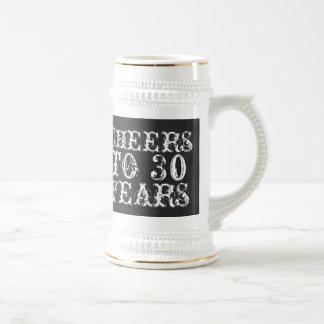 Alegrías divertidas del personalizado a 30 años tazas de café