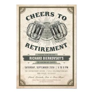 Alegrías y cerveza del vintage de la invitación