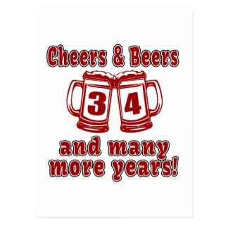 Alegrías y cervezas 34 años postal