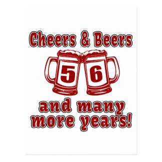 Alegrías y cervezas 56 diseños del cumpleaños postal