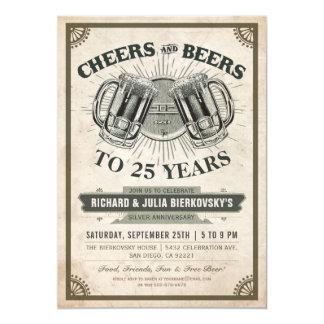 Alegrías y cervezas de las invitaciones el | de la invitación 12,7 x 17,8 cm