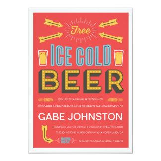 Alegrías y cervezas invitación 12,7 x 17,8 cm