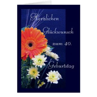 Alemán: 40.o feliz/50.o 60.o cumpleaños… tarjeta de felicitación