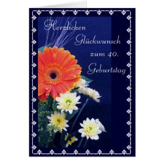 Alemán: 40.o feliz/50.o… cumpleaños tarjeta de felicitación