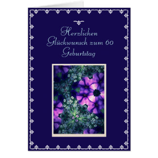 Alemán: 60.o cumpleaños feliz tarjeta de felicitación