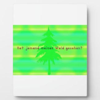 Alemán - bosque placa expositora