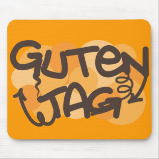 Alemán de la etiqueta de Guten hola en estilo de l Tapete De Ratón