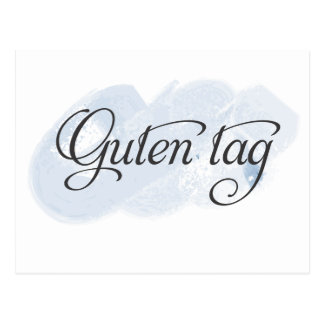 Alemán - etiqueta de Guten Postal