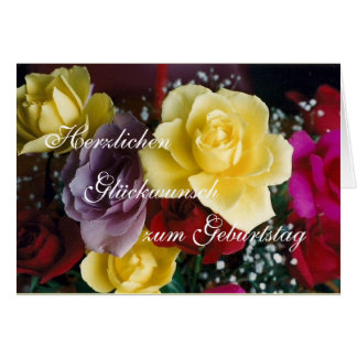 Alemán: ¡Feliz cumpleaños! Tarjeta De Felicitación