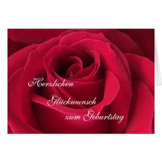 Alemán: ¡Feliz cumpleaños! Tarjetón