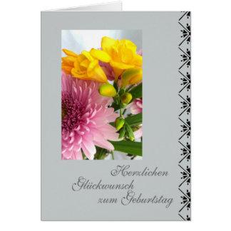 Alemán: tarjeta de cumpleaños