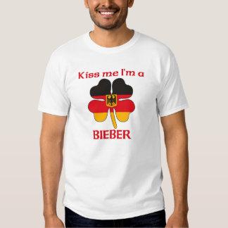 Alemanes personalizada me besan que soy Bieber Camisetas