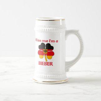 Alemanes personalizada me besan que soy Bieber Jarra De Cerveza
