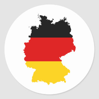 Alemania DE Pegatina Redonda