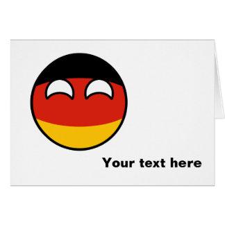 Alemania Geeky que tiende divertida Countryball Tarjeta