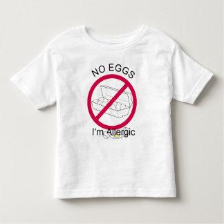 Alergia del huevo camiseta de bebé