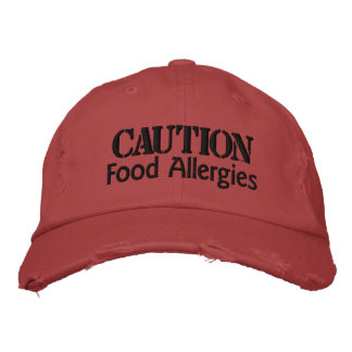 Alergias alimentarias, precaución gorra bordada