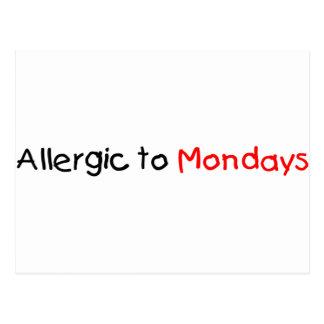 Alérgico a lunes postal