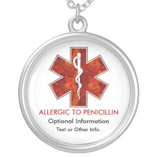 Alérgico al collar médico   de la penicilina