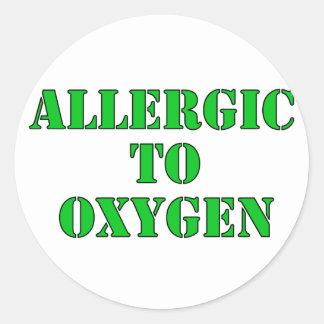 Alérgico al oxígeno pegatina redonda