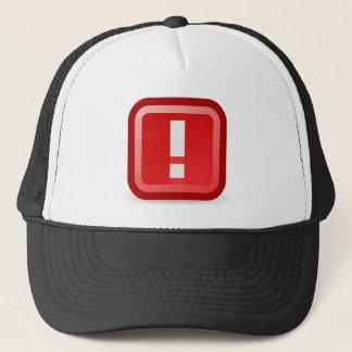 Alerta roja gorra de camionero