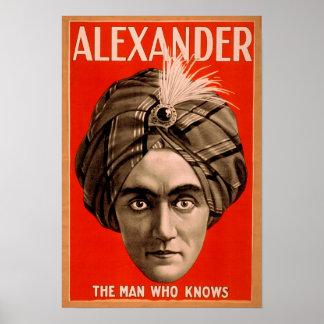 Alexander el hombre que sabe el poster mágico