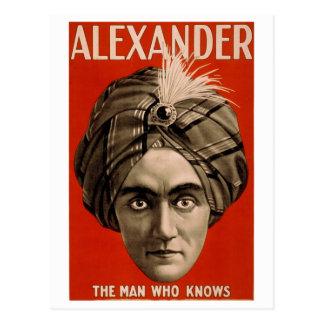 """""""Alexander: El hombre que sabe la"""" tarjeta del"""