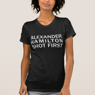 Alexander Hamilton tiró la primera camiseta oscura