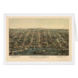 Alexandría, mapa panorámico del VA - 1863 Tarjeta