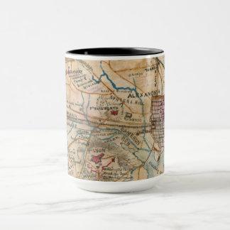Alexandría, taza del mapa de la antigüedad del VA