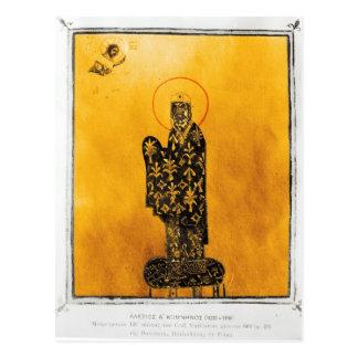 Alexius I Comnenus, emperador bizantino 2 Postal