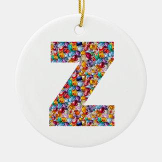 ALFA Z del zzz: Joyas únicas de los regalos, Adorno Navideño Redondo De Cerámica