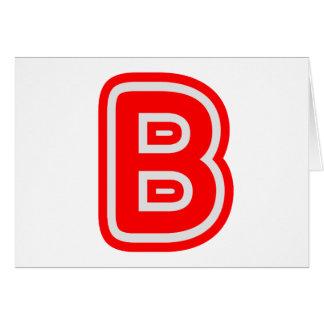 Alfabeto ALPHAB BBB Tarjeta De Felicitación