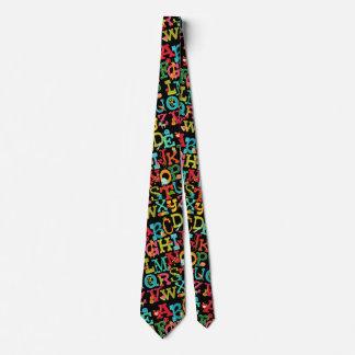 Alfabeto caprichoso para el lazo de los niños corbatas personalizadas