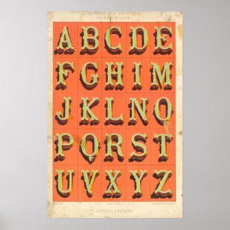 Alfabeto (Cartas imaginación) Póster