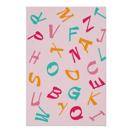 Alfabeto de los niños arte con fotos